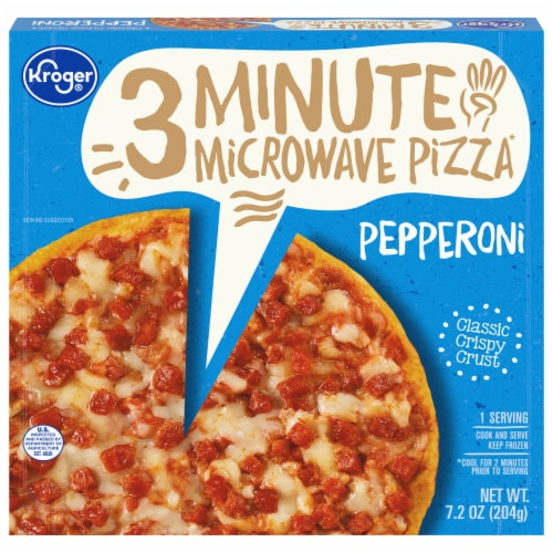 Kroger® 3 Minute Microwave Pepperoni Pizza Perspective: front
