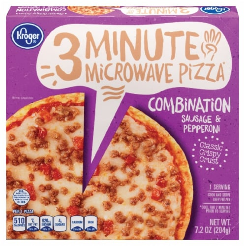 Kroger®  Combination Sausage & Pepperoni 3 Minute Microwave Pizza Perspective: front