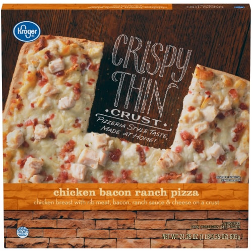 Kroger® Chicken Bacon Ranch Crispy Thin Crust Pizza Perspective: front
