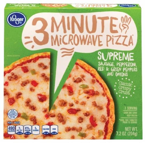 Kroger® 3 Minute Microwave Supreme Pizza Perspective: front