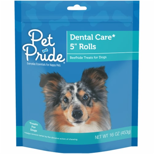Pet Pride® Dental Care Beefhide Dog Treats Perspective: front