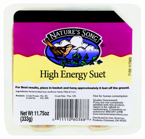 Nature's Song® High Energy Suet Perspective: front