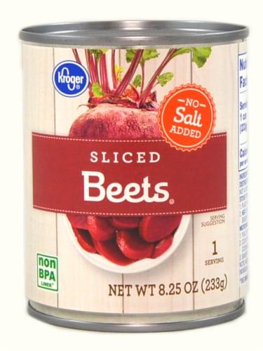 Kroger® No Salt Added Sliced Beets Perspective: front