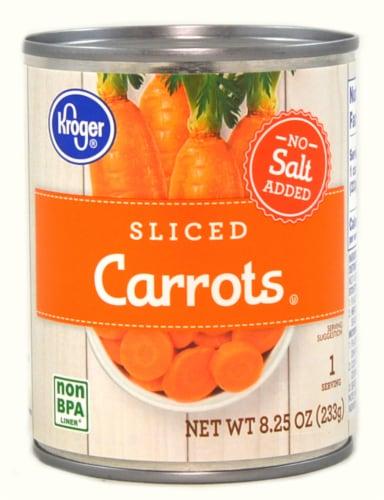 Kroger® No Salt Added Sliced Carrots Perspective: front