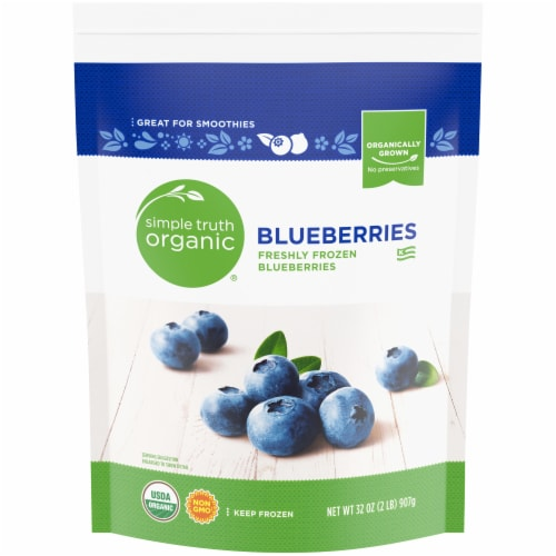 Simple Truth Organic™ Frozen Blueberries Perspective: front