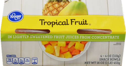 Kroger® Tropical Fruit in Lightly Sweetened Juice Perspective: front
