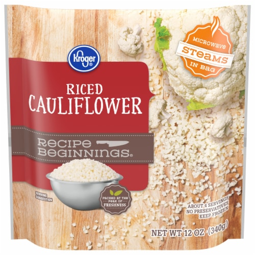 Kroger® Recipe Beginnings Frozen Riced Cauliflower Perspective: front