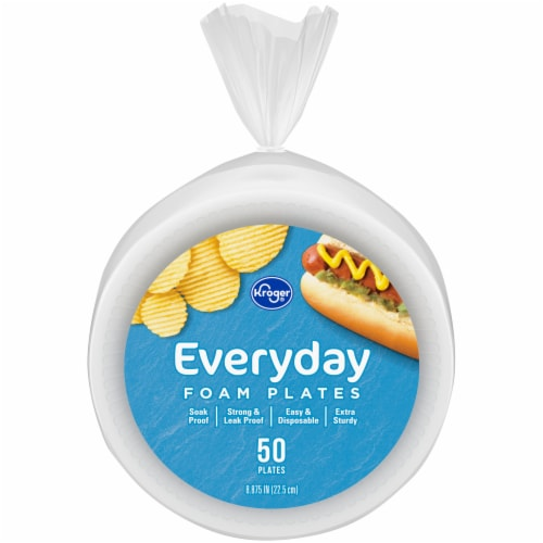 Kroger® Everyday Foam Plates Perspective: front