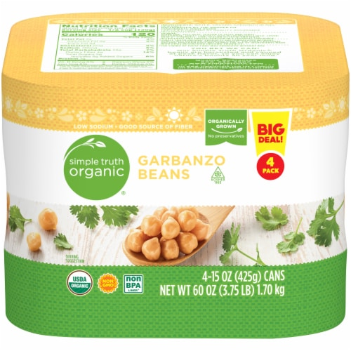 Simple Truth Organic® Garbanzo Beans Perspective: front