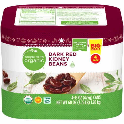 Simple Truth Organic™ Dark Red Kidney Beans Perspective: front