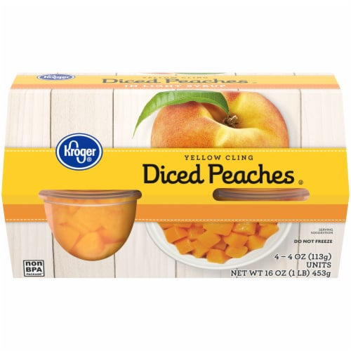 Kroger® Yellow Cling Diced Peaches Perspective: front