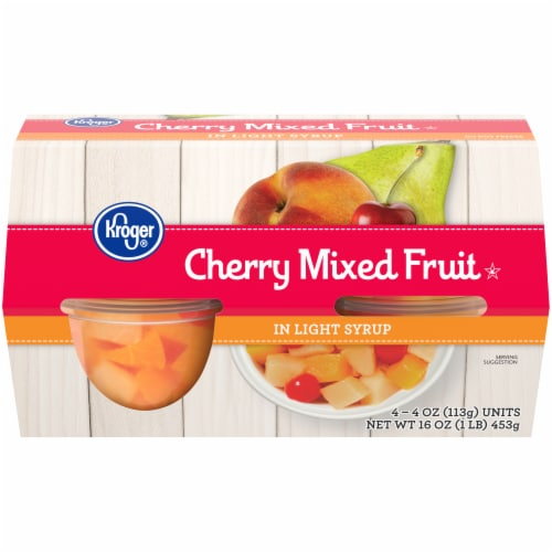 Kroger® Cherry Mixed Fruit In Light Syrup Perspective: front