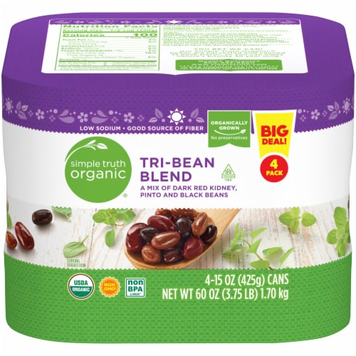 Simple Truth Organic® Tri-Bean Blend Perspective: front