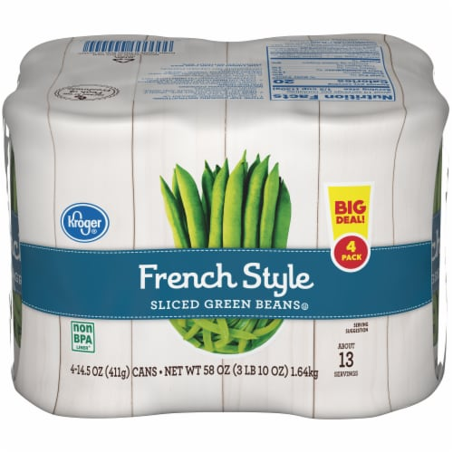 Kroger French Style Sliced Green Beans Perspective: front