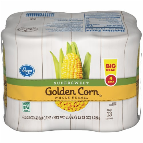 Kroger® Supersweet Whole Kernel Golden Corn Perspective: front