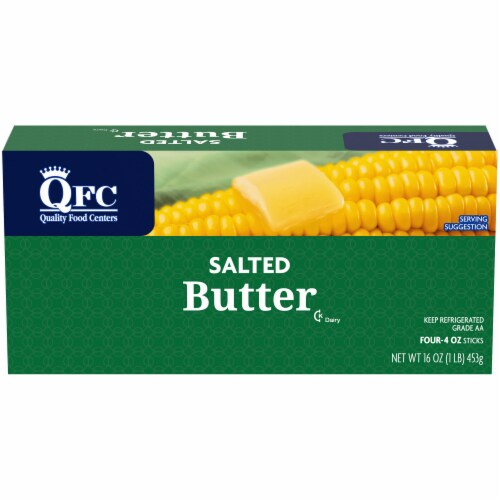 QFC Salted Butter Sticks Perspective: front