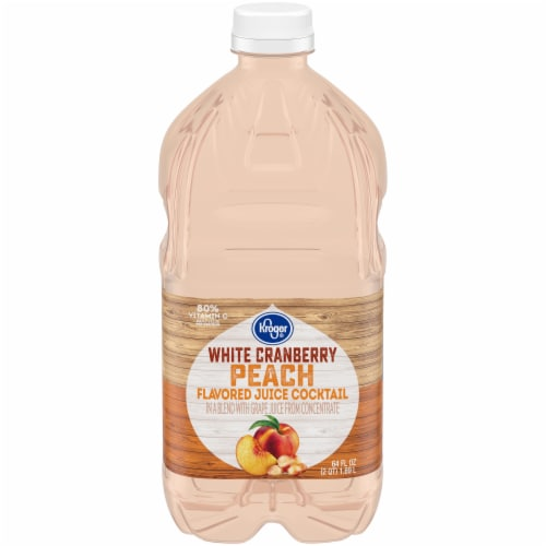 Kroger® White Cranberry Peach Flavored Juice Cocktail Perspective: front
