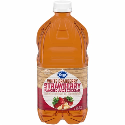 Kroger® White Cranberry Strawberry Flavored Juice Cocktail Perspective: front