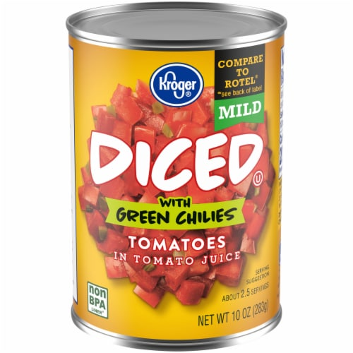 Kroger® Mild Diced Tomatoes with Green Chilies Perspective: front