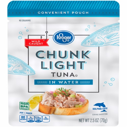 Kroger® Wild Caught Chunk Light Tuna in Water Perspective: front