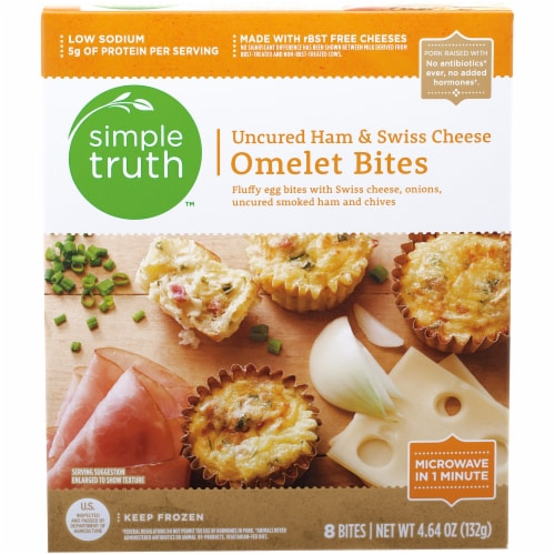 Simple Truth™ Uncured Ham & Swiss Cheese Omelet Bites Perspective: front