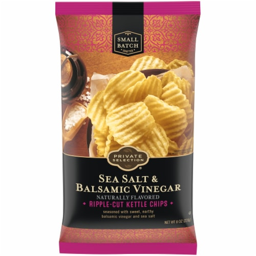 Private Selection™ Sea Salt & Balsamic Vinegar Ripple-Cut Kettle Chips Perspective: front