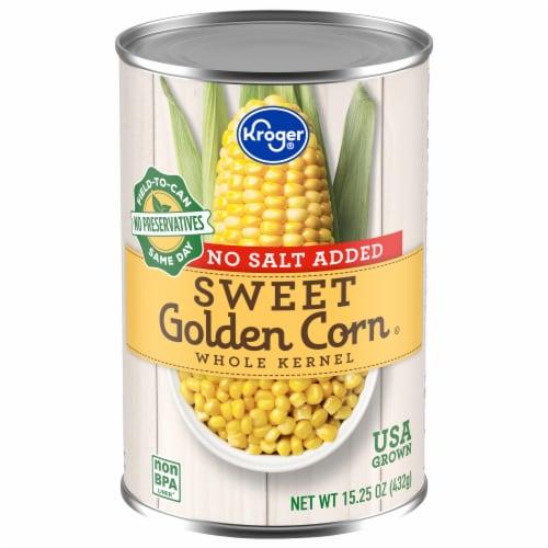 Kroger® No Salt Added Sweet Golden Whole Kernel Corn Perspective: front