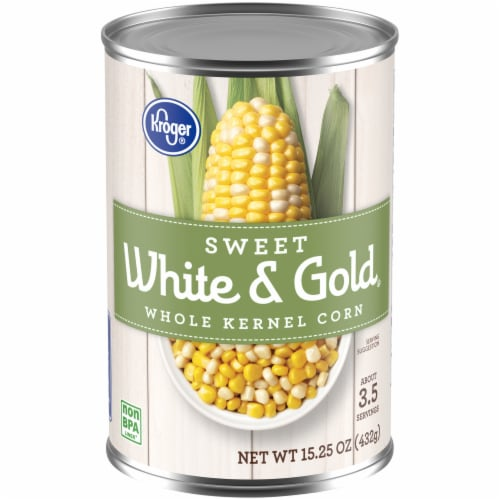 Kroger® Sweet White & Gold Whole Kernel Corn Perspective: front