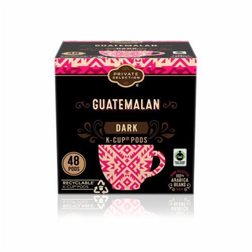 Private Selection Guatemalan Dark Roast Coffee K-Cup Pods Perspective: front