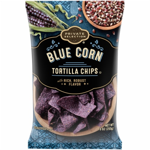 Private Selection™ Blue Corn Tortilla Chips Perspective: front