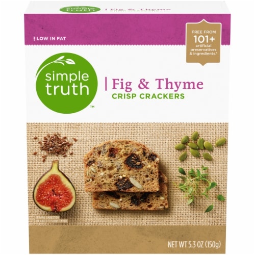 Simple Truth™ Fig & Thyme Crisp Crackers Perspective: front