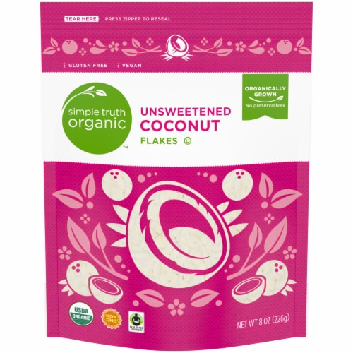 Simple Truth Organic™ Unsweetened Coconut Flakes Perspective: front