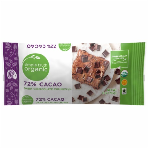 Simple Truth Organic™ 72% Cacao Dark Chocolate Chunks Perspective: front