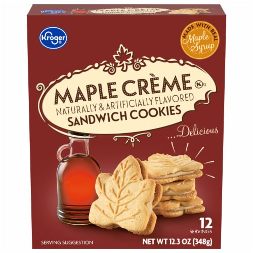 Kroger® Maple Creme Sandwich Cookies Perspective: front