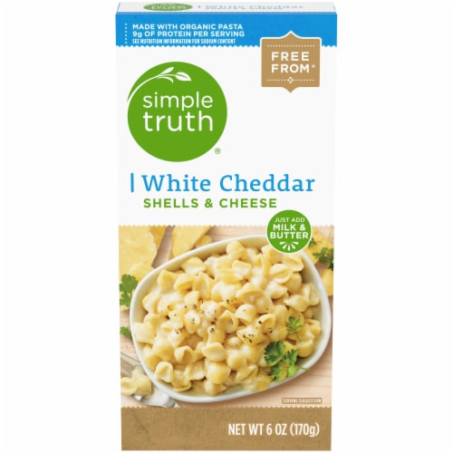 Simple Truth® White Cheddar Shells & Cheese Perspective: front