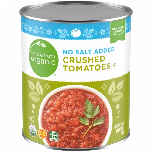 Simple Truth Organic® No Salt Added Crushed Tomatoes Perspective: front