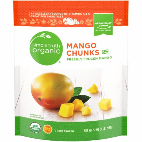 Simple Truth Organic™ Frozen Mango Chunks Perspective: front