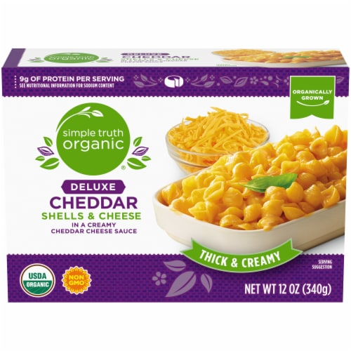 Simple Truth Organic® Deluxe Cheddar Shells & Cheese Perspective: front