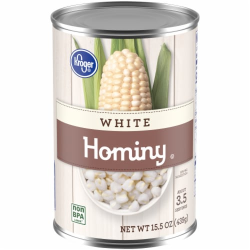 Kroger® White Hominy Perspective: front