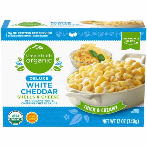 Simple Truth Organic® Deluxe White Cheddar Shells & Cheese Perspective: front