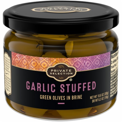 Private Selection™ Garlic Stuffed Green Olives Perspective: front