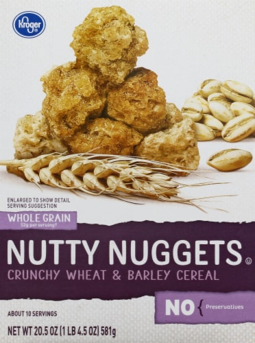 Kroger® Nutty Nuggets Crunchy Wheat & Barley Cereal Perspective: front