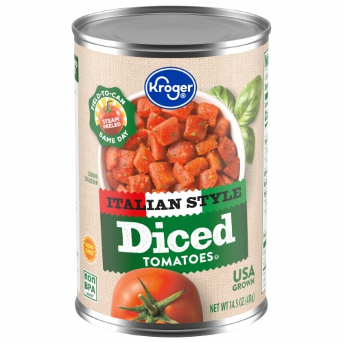 Kroger® Italian Style Diced Tomatoes Perspective: front