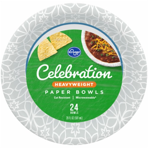 Kroger® Celebration Heavy Weight Paper Bowls Perspective: front
