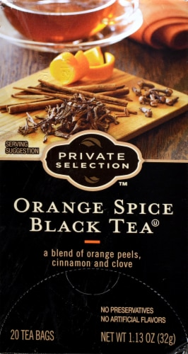 Private Selection™ Orange Spice Black Tea Bags Perspective: front