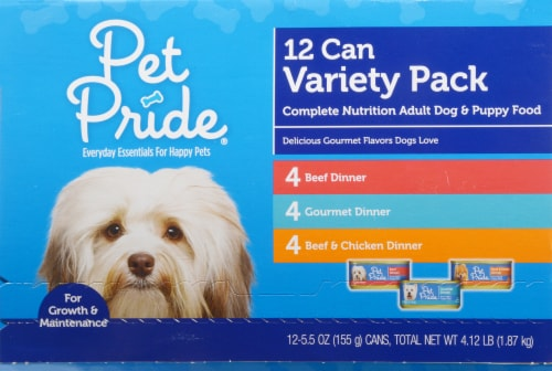 Pet Pride™ Wet Dog Food Variety Pack Perspective: front