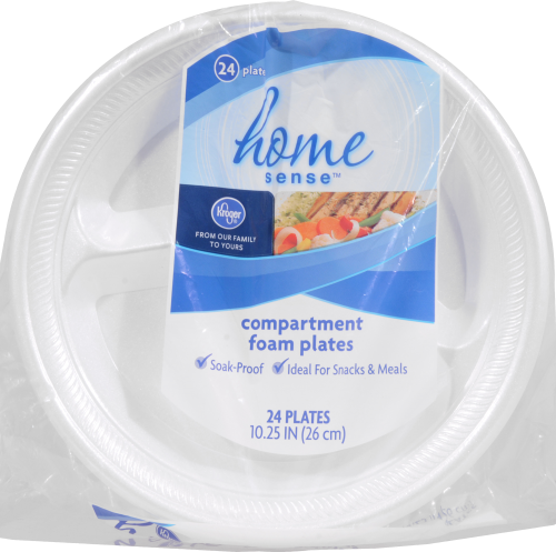 Kroger® 10.25-Inch Compartment Foam Plates Perspective: front
