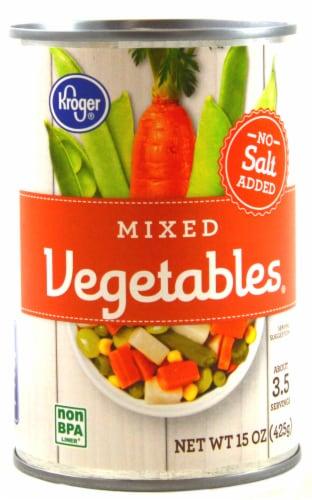 Kroger® No Salt Added Mixed Vegetables Perspective: front