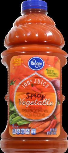 Kroger Spicy 100% Vegetable Juice Perspective: front