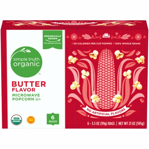 Simple Truth Organic™ Butter Flavor Microwave Popcorn Perspective: front
